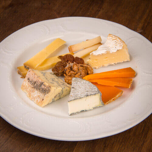 Imported French cheese platter