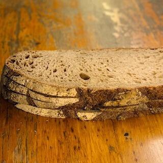 Large slices sourdough bread